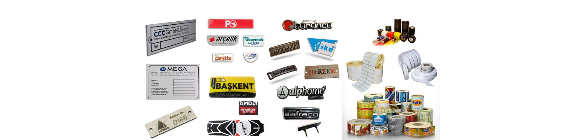 aluminyum etiket,damla etiket,ruloetiket,zamak etiket,mobilya etiketi